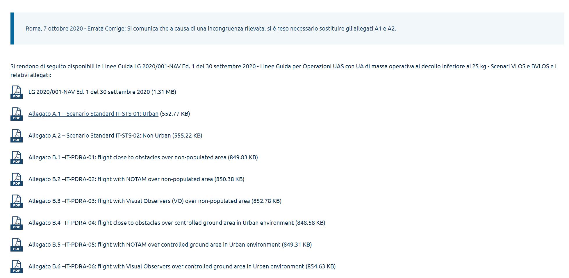 Linee Guida LG 2020/001-NAV ERRATA CORRIGE